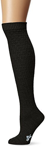 Wigwam Womens Lilly Knee High Classic Merino Wool Lightweight Boot Socks Black Medium >>> Continue to the product at the image link.