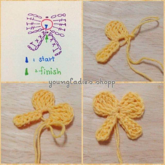 """ถูกใจ 146 คน, ความคิดเห็น 1 รายการ - youngladies.shopp@gmail.com (@youngladies.cute) บน Instagram: """"mini bow ^^ * * #crochetflower #crocheted #crochet #crocheting #crochetaddict #crochetlove…"""""""