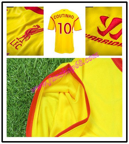 Liverpool Coutinho 10 Warrior Sports Away Fussball Trikot 2014 2015