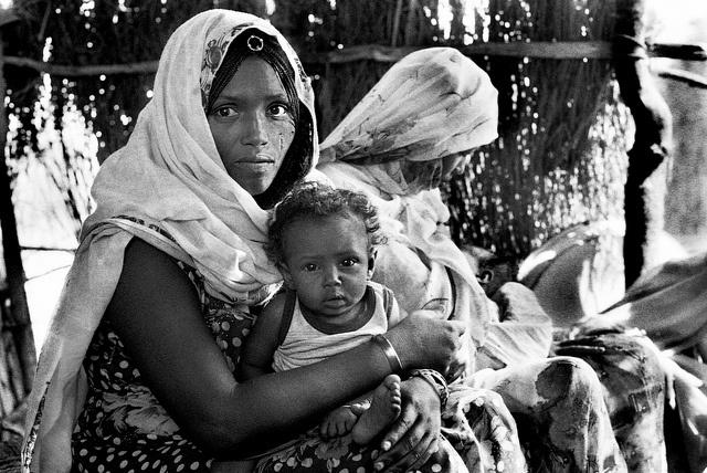 Sudan refugee mom and baby by frankkeillor, via Flickr