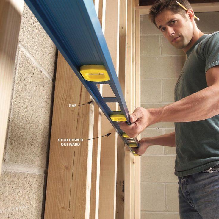 How to Straighten Bowed Stud Walls Metal stud framing