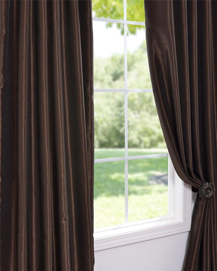 Coffee Bean Vintage Faux Textured Dupioni Silk Curtain Panel | Overstock.com Shopping - The Best Deals on Curtains