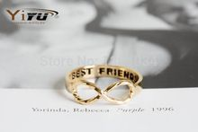 2016 Новая Мода Выпускной Лучший Друг Бесконечность Подарок На День Рождения Панк Кольцо для Женщин Дружбы Простой Костяшки Кольца R021(China (Mainland))