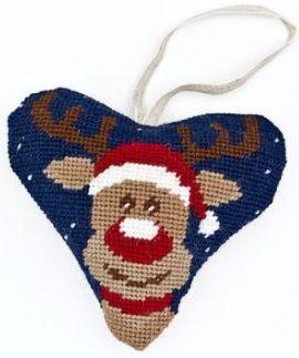Christmas Rudolph Heart Tapestry kit