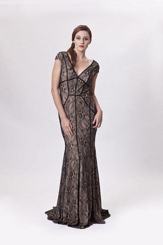 Pictures of SAMARA Gown, Black/Nude