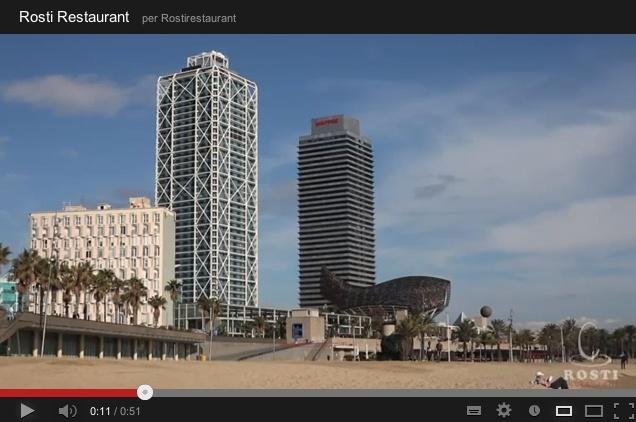 Rosti Restaurant está rodeado de edificios representativos como la torre Mapfre y el Hotel Arts, que son el punto de entrada al Puerto Olímpico y los locales de ocio del Passeig Marítim de Barcelona, una zona altamente turística.    Una opción para comer o cenar en buena compañía junto a la playa.     Lugar: c/ Ramón trias fargas, 2    Horario: Mar - Jue: 9:00 - 17:00, Vie - Sáb: 9:00 - 3:00, Dom: 9:00 - 21:00