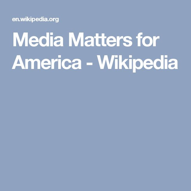 Must read.........Media Matters for America - Wikipedia