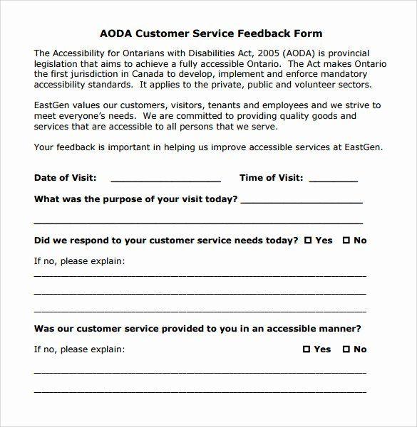 30 Customer Feedback Form Template In 2020 Customer