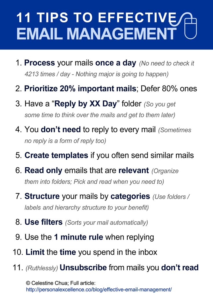 Effective Email Management (Time Saver)