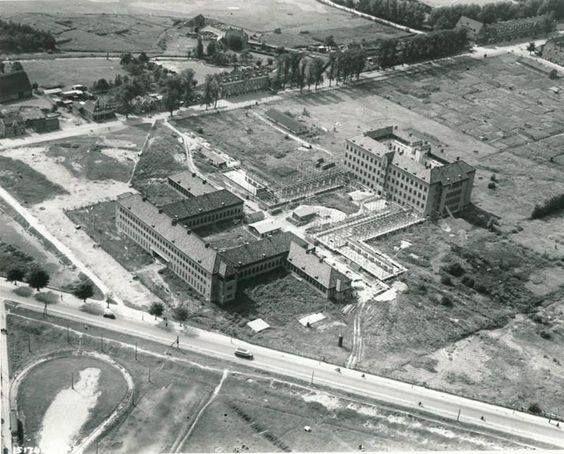 Rotterdam - bouw van het Zuiderziekenhuis, 1937.