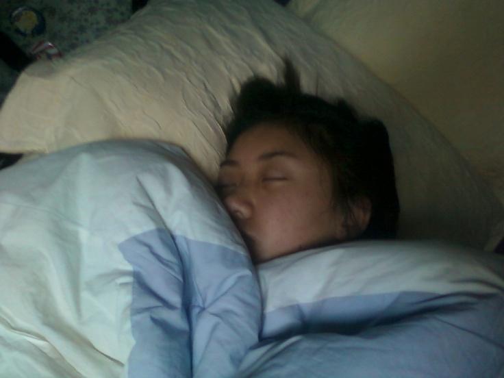 They even sleep asian:)