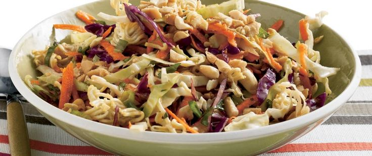 Use your noodle! Let convenience products like coleslaw mix, ramen noodles and bottled dressing do the work for you.
