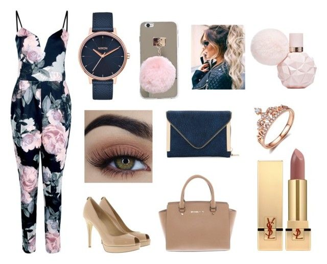 """Romper? Yes!!! "" by kirihawkins ❤ liked on Polyvore featuring Boohoo, MICHAEL Michael Kors, Michael Kors, Yves Saint Laurent, Nixon and Urban Expressions"