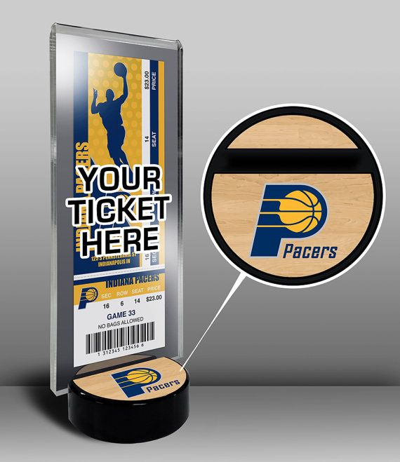 Indiana Pacers Ticket Display Stand - Team Logo or My First Game