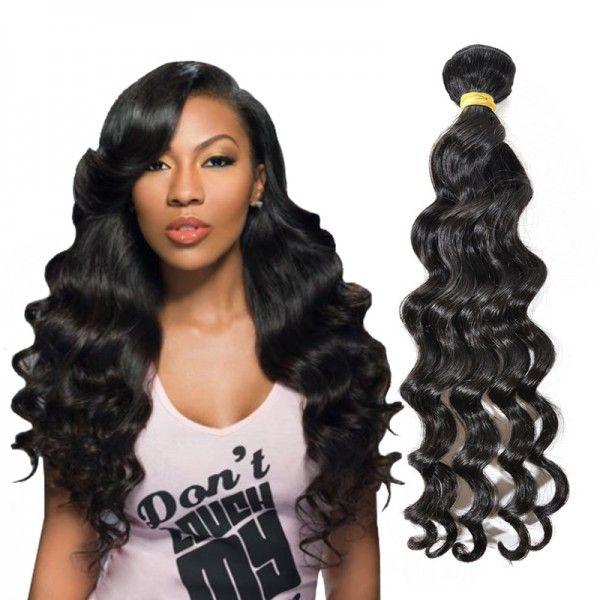 100% Natural Brazilian Human Virgin Hair Loose Wave Bundle WDSD0018