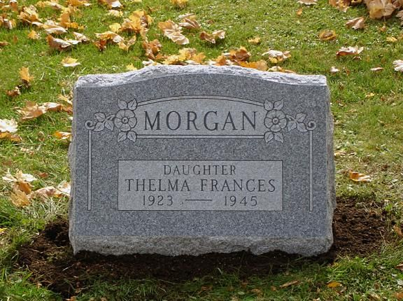 Single Slant Upright Headstone For Morgan Family With Images