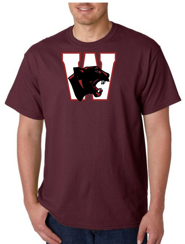 Unisex Heavy Weight Cotton T-Shirt (Gildan) - Watervliet Panthers Logo White