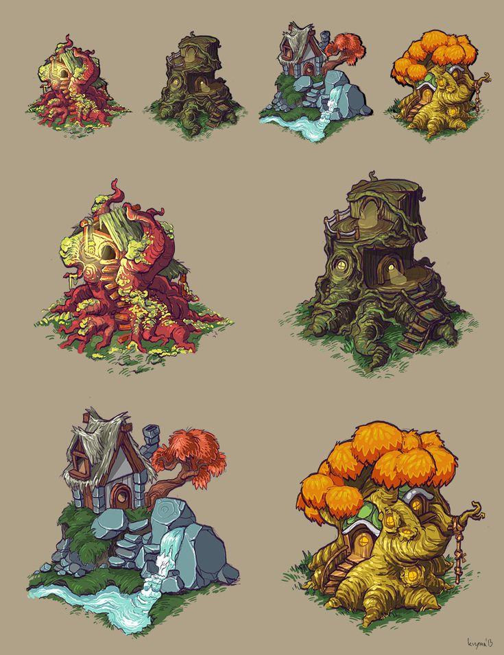 Treehouses by krzyma.deviantart.com on @deviantART