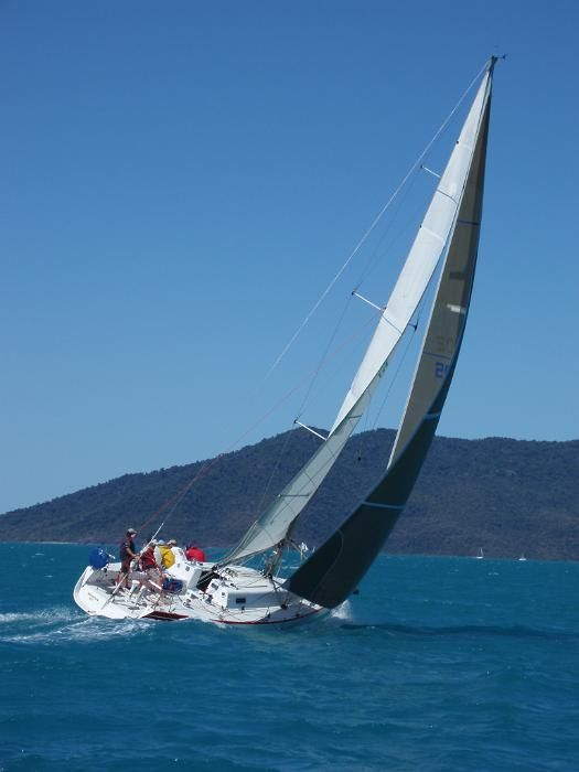 a racing yach sailing in the whitsundays, australia - free stock photo from www.freeimages.co.uk