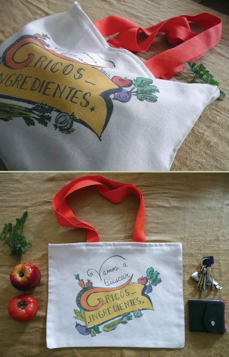 Bolsa de tela de alonauta, para hacer las compras en la verdulería o el super.