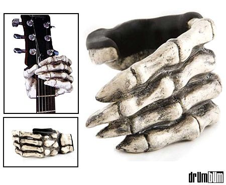 cool guitar holder if you 39 re looking for guitar gift ideas this is it the skeleton hand is. Black Bedroom Furniture Sets. Home Design Ideas