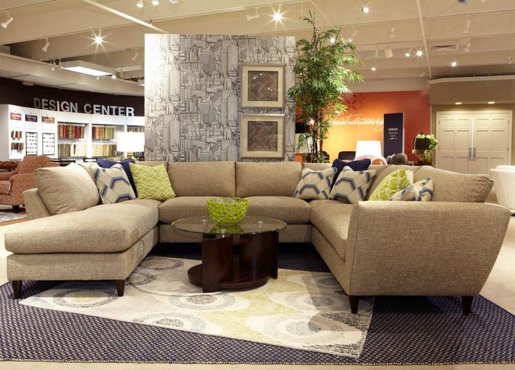 Tribeca Contemporary Five Piece Sectional Sofa with LAF Chaise by