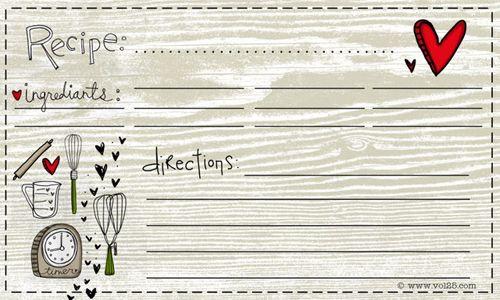 10 1 Free Recipe Cards to Print