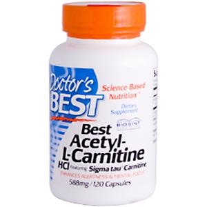 Doctor's Best, Best Acetyl-L-Carnitine HCl, 588 mg, 120 Capsules - iHerb.com
