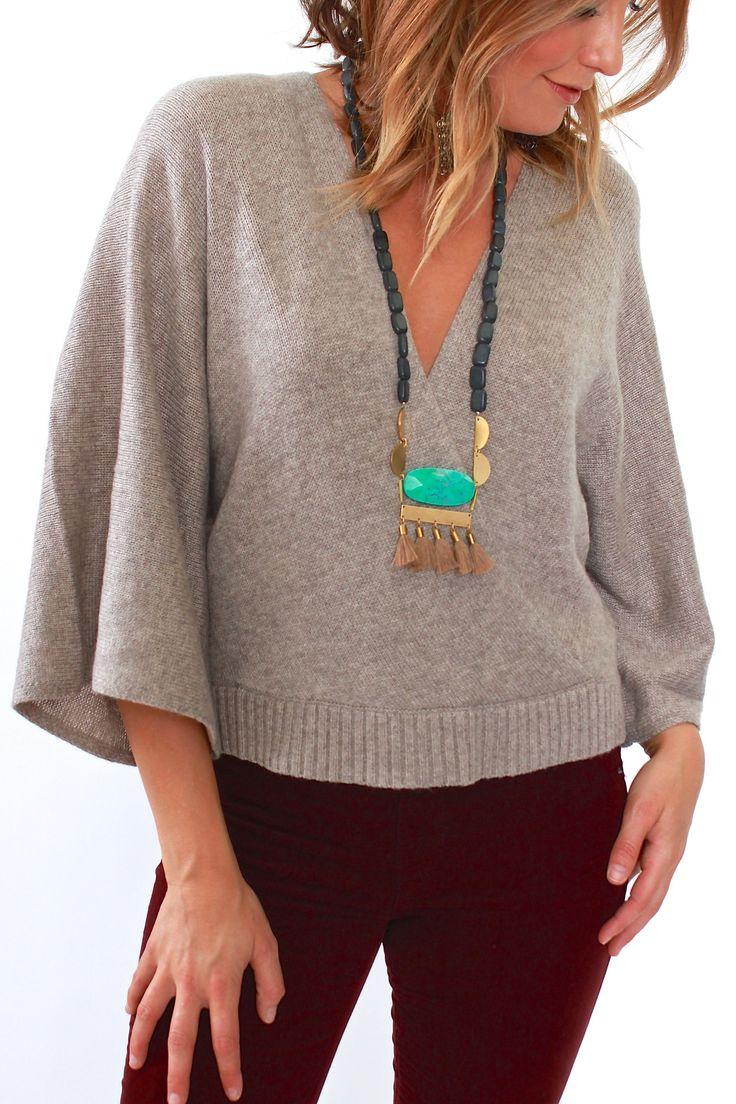 Ella Moss, Open Back Pullover in Heather Barley