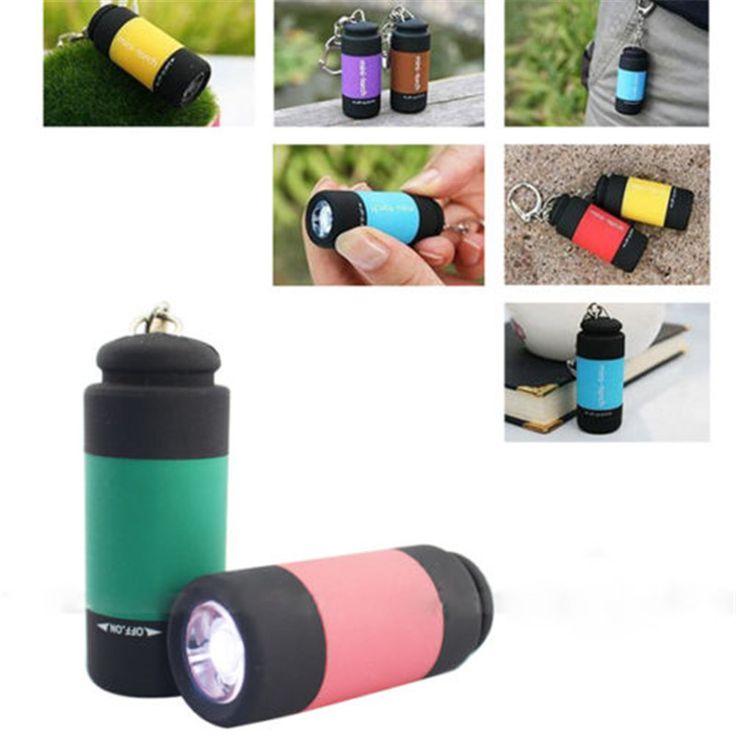 Mini Antorcha del Bolsillo del USB Recargable Luz LLEVADA Impermeable de la Lámpara de La Linterna de Camping Escalada Pesca
