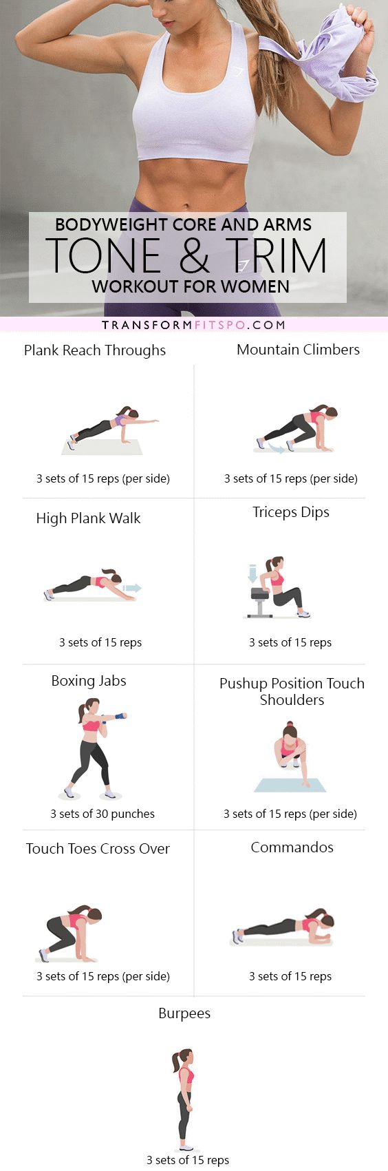 Repin and share if this home workout got you in sexy shape! Read the post for all the info!
