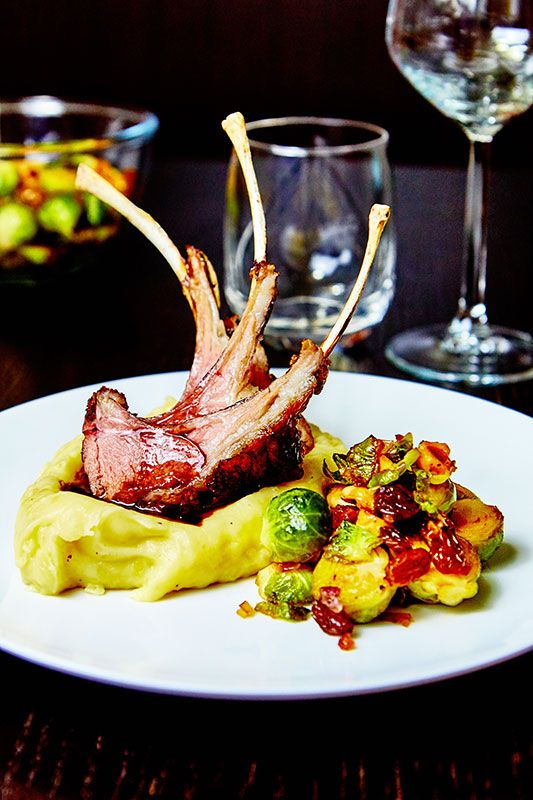 Rack Of Lamb Is A Special Treat For Me And I Can T Wait To Have It This Sunday Served With Brussels Sprouts Mash Red Wine Sauce