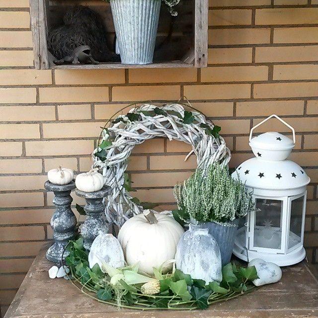 Schne Herbstdeko in Wei Quelle Mona Moony