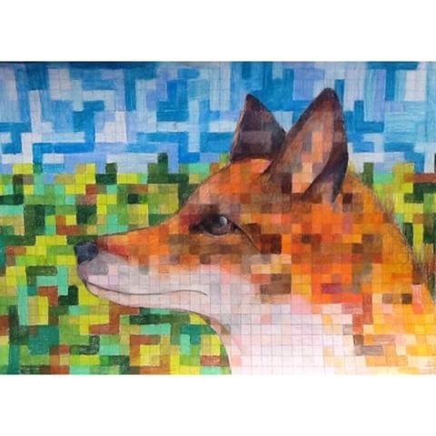 Image result for graph paper art
