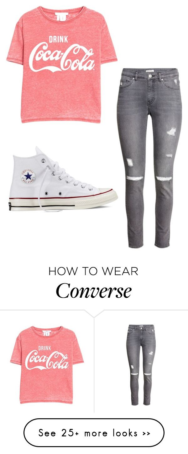 """Read Desc"" by porkchopnmyface on Polyvore featuring MANGO, H&M and Converse"