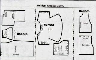 PINIPON - FOFURA DE MODA: MOLDES BONECAS DE PANO