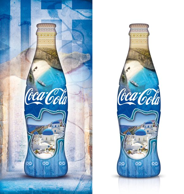 Greek Coca-Cola Bottle