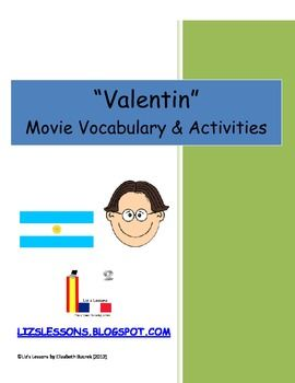 """Valentin"" Movie Vocabulary and Activities"
