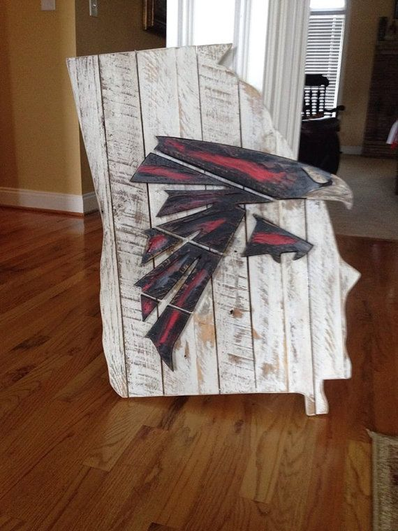 Atlanta Falcons Wooden Sign By Bentwoodcustoms On Etsy Moodybrandon45