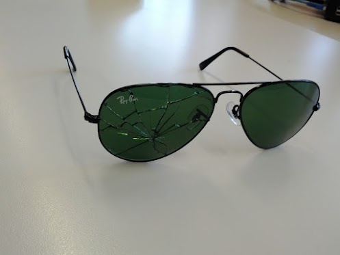 ray ban glasses broken  broken ray ban glasses :(