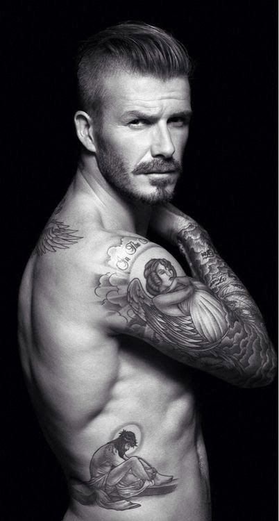 We're gonna show you the tattoos for the English Footballer David Beckham Some of these tattoos are old and some of them are new! Enjoy source:Google,Pinterest,Tumblr