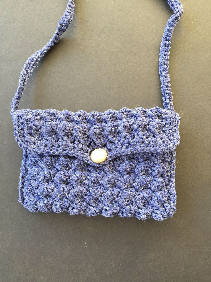 vintage crochet purse with strap and button, vintage purse for sale, vintage bags, by MsKoolsCreations on Etsy https://www.etsy.com/ca/listing/541117579/vintage-crochet-purse-with-strap-and