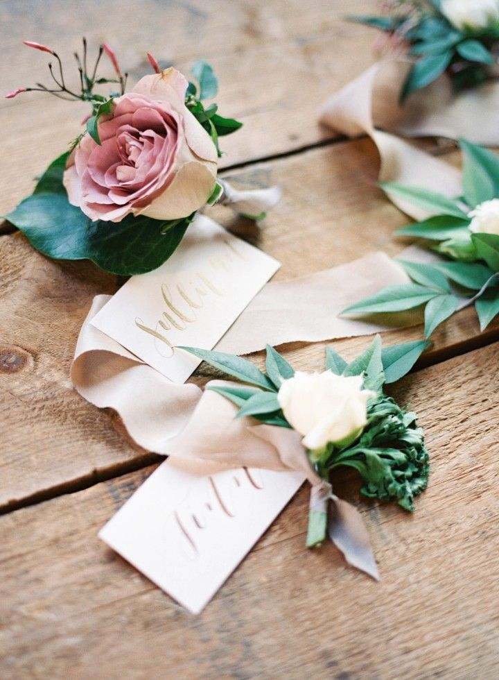 wedding boutonniere idea; photo: Nicole Berrett Photography