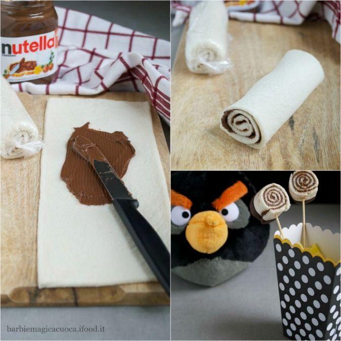 girelle alla nutella, ricetta facile e veloce senza cottura per la merenda dei bambini