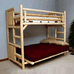Twin Over Full Log Futon, Pine Log Futon, Log Furniture, Rustic Furniture Browse our rustic furniture catalogs now.  Free Delivery to 48 states.
