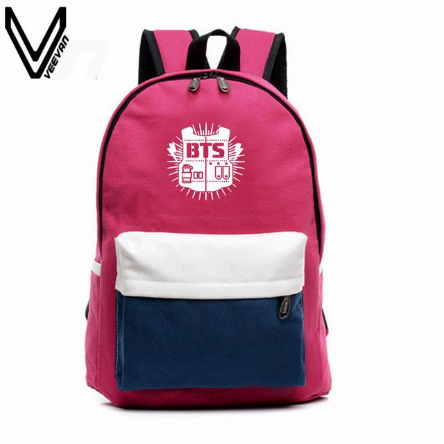 Good price 2016 BTS Backpacks EXO Bags B2ST GOT7 B1A4 B.A.P CNBLUE Canvas Should Bag Super Junior Backpack School Bags For Teenagers Fans just only $14.99 with free shipping worldwide  #backpacksformen Plese click on picture to see our special price for you