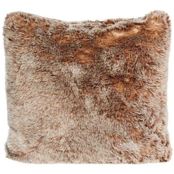 Winter Home Tundra Wolf Full Faux Fur Cushion 45x45cm ($105) ❤ liked on Polyvore featuring home, home decor, throw pillows, decor, tan, scandinavian throw pillows, tan throw pillows, faux fur throw pillow, taupe throw pillows and spring home decor