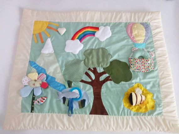 Mountain Play mat Baby playmat busy blanket sensory