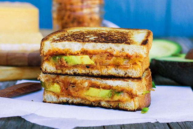 Grilled Cheese With Green Garlic Butter, Tomatoes And Avocado Recipes ...