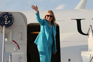 A Photo Of Hillary Clinton In Every Country She's Visited
